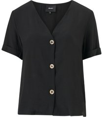 blus objellie s/s v-neck top