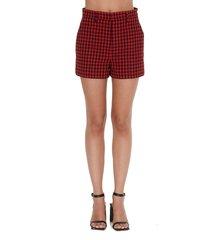 red valentino vichy shorts