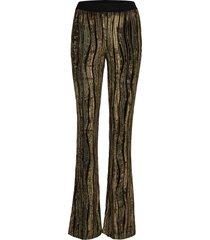 nolan, 910 velvet devoré broek met wijde pijpen goud stine goya