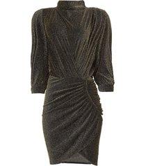 jurk met glinsterend lurex absalon  zwart