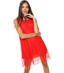 vestido rojo exotica encaje