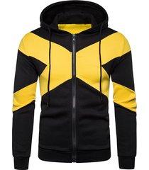 contrast x graphic zip up fleece hoodie