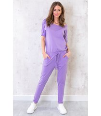 jumpsuit basic lila