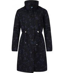 happyrainydays regenjas coat beryl blossom black midnight-l