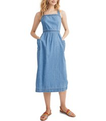 women's madewell denim apron dress