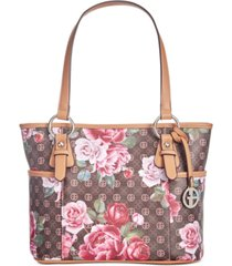 giani bernini signature peonies tote, created for macy's