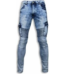 exclusieve biker jeans - slim fit biker pocket jeans
