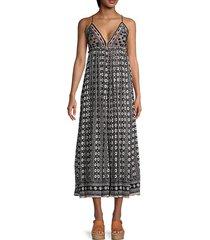 good vibes cotton midi dress