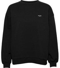 base woman sweat o'neck sweat-shirt tröja svart h2o