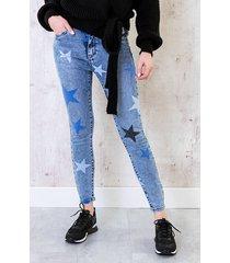 denim jeans met sterren