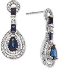 certified ruby (1-1/2 ct. t.w.) & diamond (1/2 ct. t.w.) drop earrings (also in sapphire)