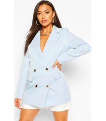 double breasted military blazer, blue
