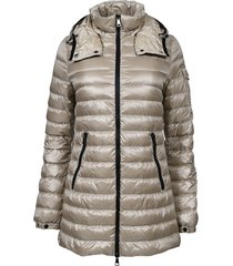 mint quilted parka