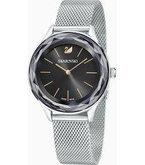 orologio octea nova, bracciale milanese, nero, acciaio inossidabile