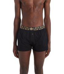 versace greca border boxers, size 6 in black at nordstrom