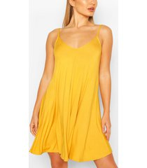 basic swing dress, mustard