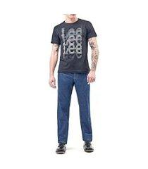 camiseta lee malha 5006l manga curta masculina preto