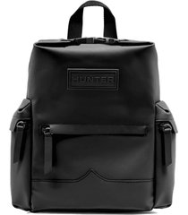original mini top clip backpack - rubberized leather