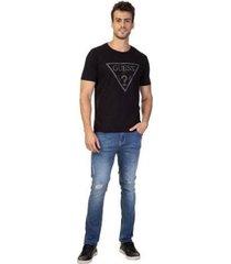 t-shirt masculina guess logo pontilhado - masculino