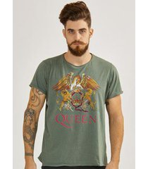 camiseta masculina queen composition logo