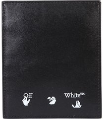 off-white printed card holder