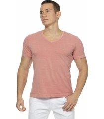 camiseta alfaiataria burguesia metalist salmã£o - rosa - masculino - algodã£o - dafiti