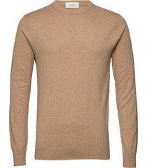 nos cotton cashmere crewneck knit gebreide trui met ronde kraag beige scotch & soda