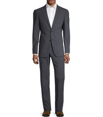 michael kors men's stretch-wool suit - blue grey - size 42 s