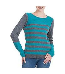 alpaca blend sweater, 'colca elegance' (peru)