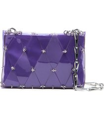 paco rabanne diamond chain-link tote bag - purple
