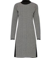 dress knitwear kort klänning svart taifun