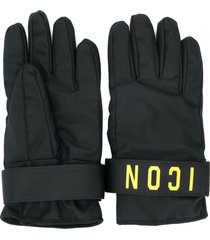 dsquared2 icon print gloves - black