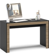 mesa de escritório macau 1,20m preto/castanho politorno
