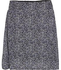 printed georgette kort kjol multi/mönstrad ganni