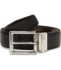 reversible slim leather belt