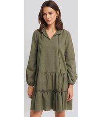 trendyol ruffle mini dress - green
