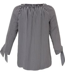 blouse met 3/4-mouwen van frapp multicolour