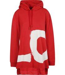 burberry love print hoodie
