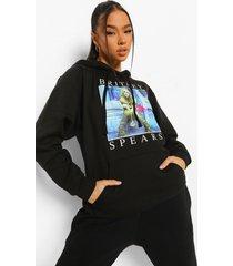 gelicenseerde britney hoodie, black