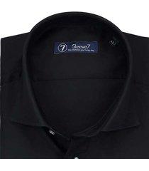 sleeve7 overhemd zwart luxe satijn