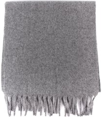 études wool scarf with fringes