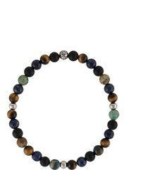 nialaya jewelry round beaded bracelet - black