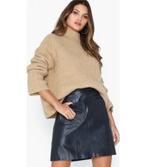 selected femme slfsofia hw leather skirt w minikjolar