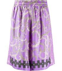 emilio pucci x koché selva pattern shorts - purple