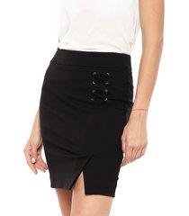 falda io corta negro - calce ajustado