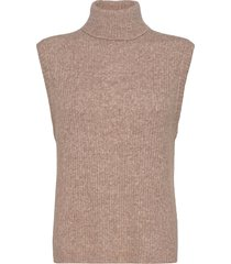 elisha neck waist coat vests knitted vests beige norr
