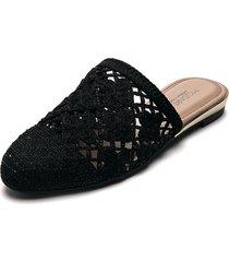 slipper negro-beige modare