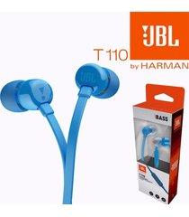 audifonos auriculares jbl t110 + azul