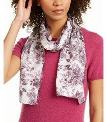 echo vintage floral toile silk oblong scarf
