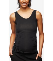 a pea in the pod luxe ruched maternity tank top